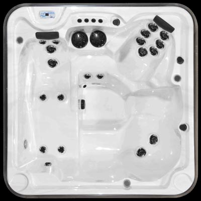 Arctic Spas Eagle model, top view of the Prestige jet configuration