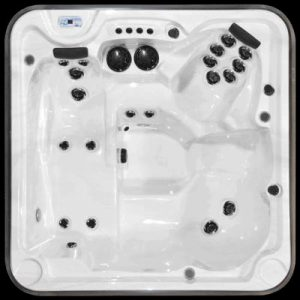 Top view of a eagle prestige hot tub