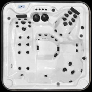Top view of a eagle signature hot tub