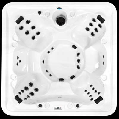 Arctic Spas top view of the Core Series Aurora model