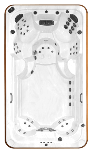 Top view of the Arctic Spas All Weather Pool Ocean