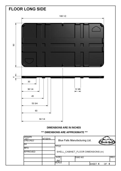 Dimensioned Drawings All Weather Pool