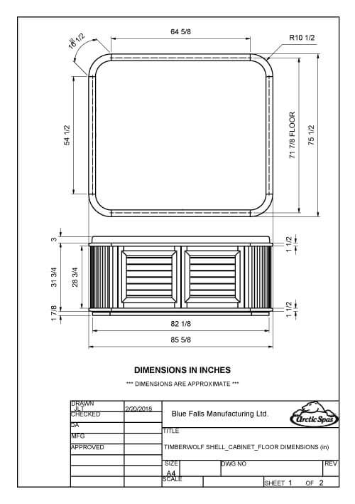 Dimensioned Drawings TIMBERWOLF