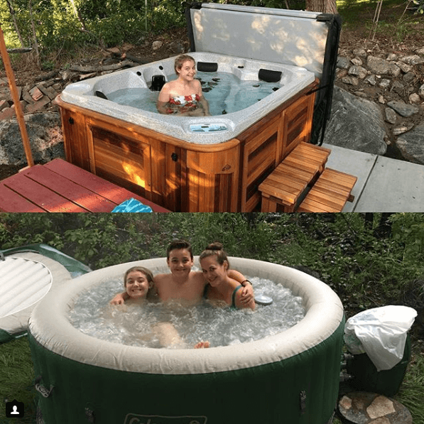 Hansen Family in a hot tub