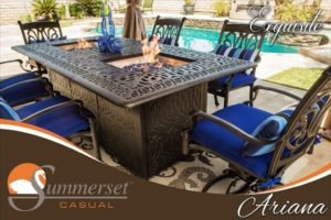 The Ariana 84x 44 - Double Fire pit table