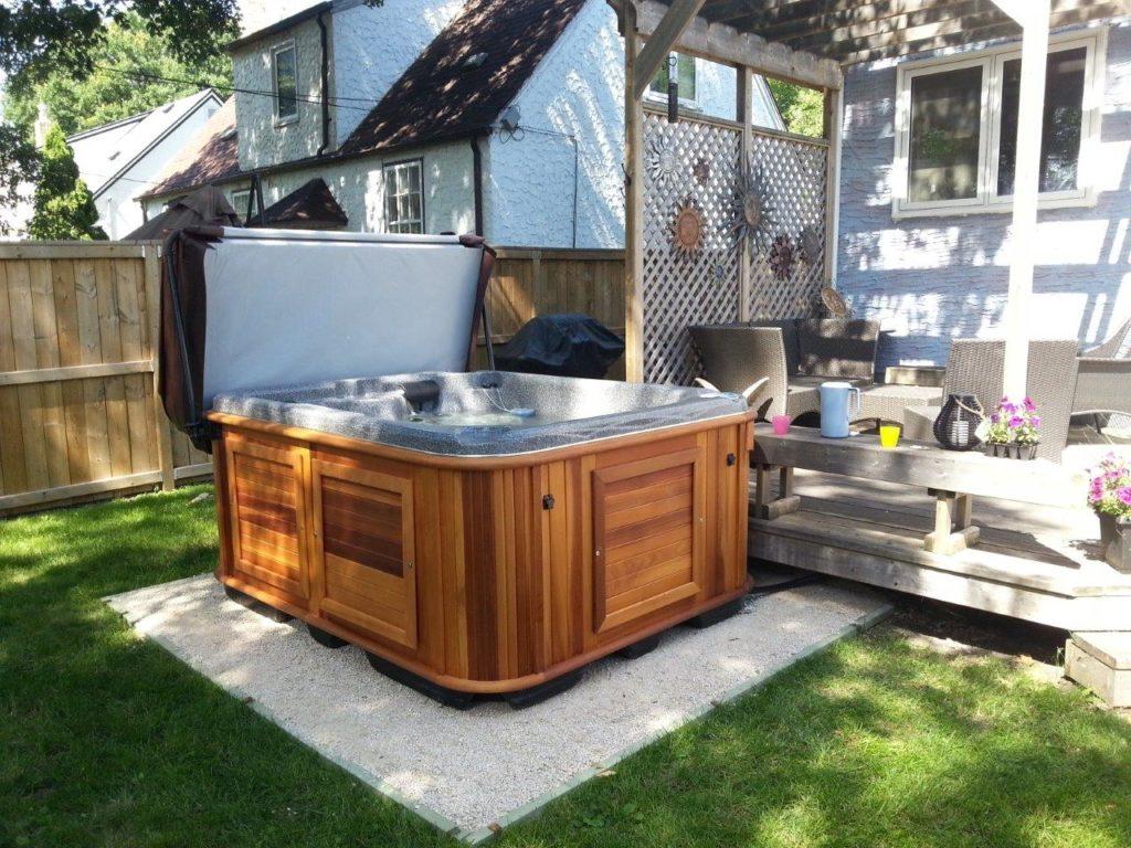 Lisa McR hot tub in Manitoba