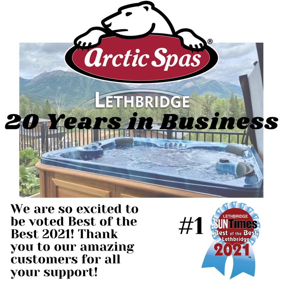 Arctic Spas 20 Years in business
