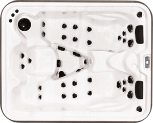 Top view of the Timgerwolf model of Arctic Spas Hot Tub