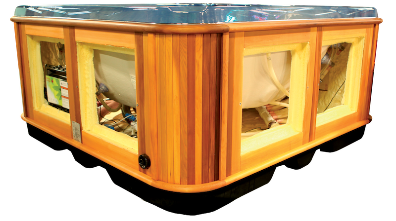 Side view of a total access cabinet