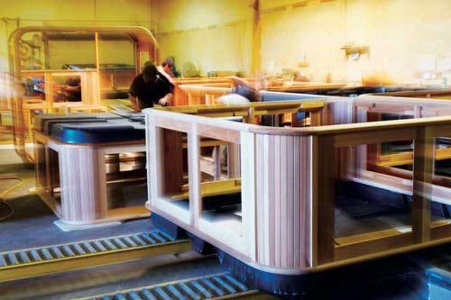 arctic spas cabinet under construction