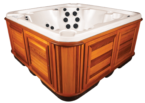 arctic spas hot tub red cedar cabinet