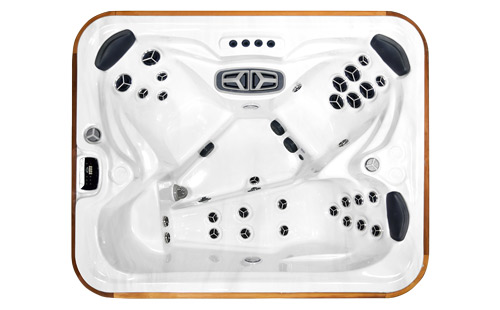 Top view of an Arctic Fox hot tub
