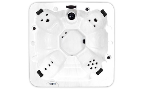 Top view of an Aurora hot tub