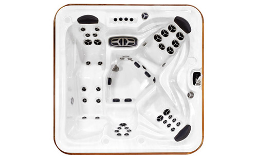 Top view of a Summit XL hot tub.