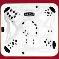 Top view of the Frontier model of Arctic Spas Hot Tub