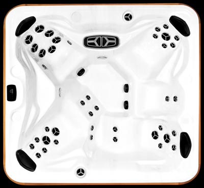 Arctic Spas Frontier model, top view of the Signature jet configuration