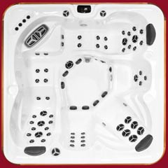 Top view of the Klondiker model of Arctic Spas Hot Tub