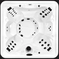 Top view of the Orca model of Arctic Spas Hot Tub