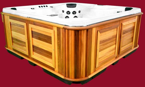 Side view of the Arctic Spas Hot Tub Summit model