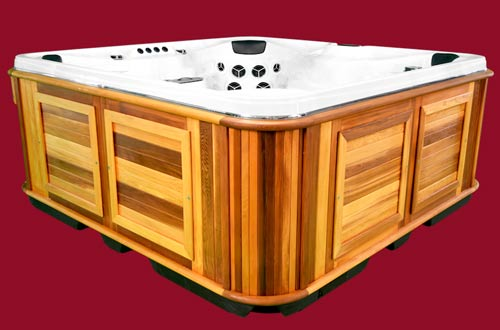 Side view of the Arctic Spas Hot Tub Summit XL model