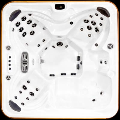 Arctic Spas Summit model, top view of the Legend jet configuration