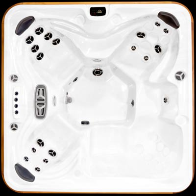 Arctic Spas Summit model, top view of the Prestige jet configuration