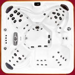 Top view of the Summit model of Arctic Spas Hot Tub