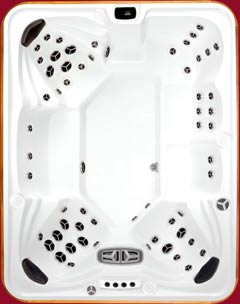 Top view of the Summit XL model of Arctic Spas Hot Tub