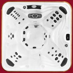 Top view of the Yukon model of Arctic Spas Hot Tub