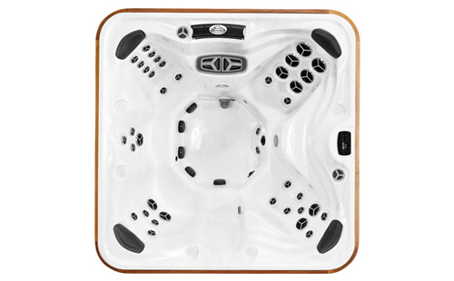 Top view of an Yukon hot tub