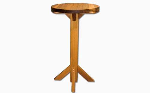 cedar wood cafe bar table
