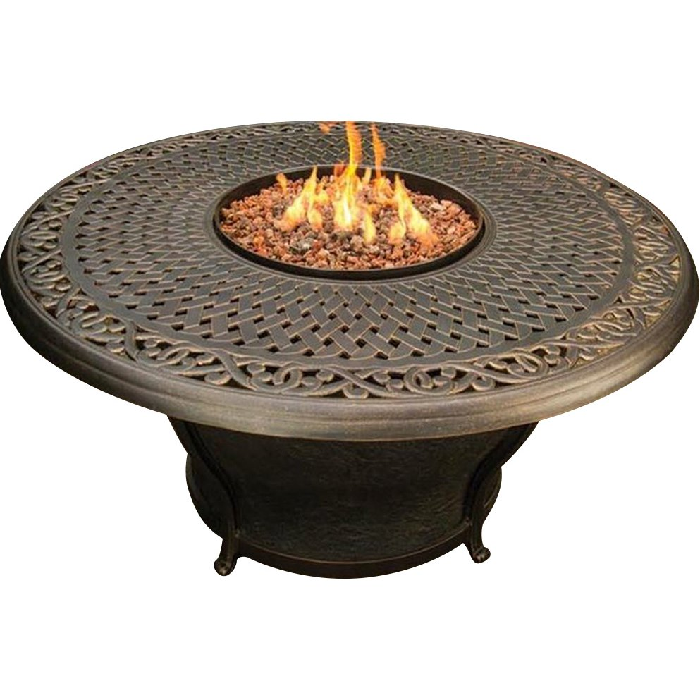 Charleston 48inch Fire Table Cast Top Beads