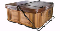 Hot tub with a Cabinet Free Cover Rest