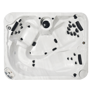 Top view of a small hot tub