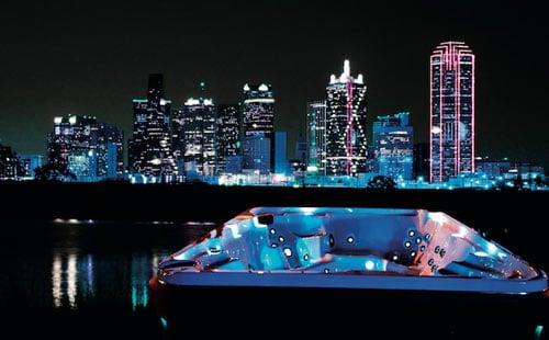 hot tub lighting skyline