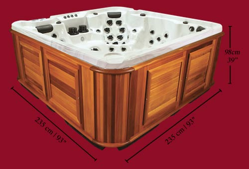 Side view of the Arctic Spas Hot Tub Kodiak model