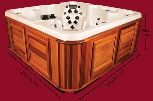 Side view of the Arctic Spas Hot Tub Tundra model