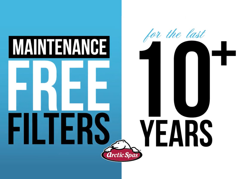 Arctic Spas Maintenance Free Filters for the last 10+ years