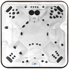 Top view of the McKinley model of Arctic Spas Hot Tub