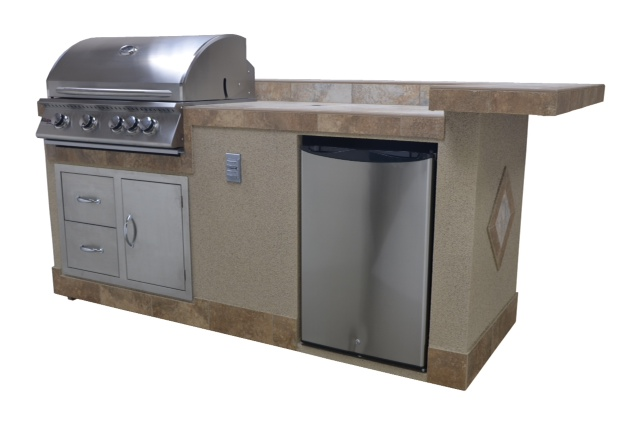 outdoor 8' Boomerang (Natural Gas & Propane) kitchen