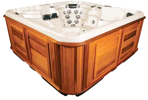 Side view of a Summit hot tub