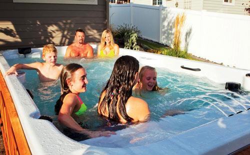 all weather pools vs swim spas