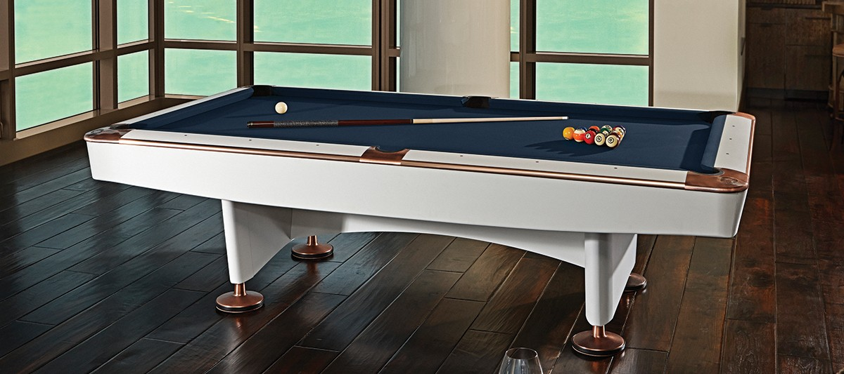 The Gold Crown IV billiard table